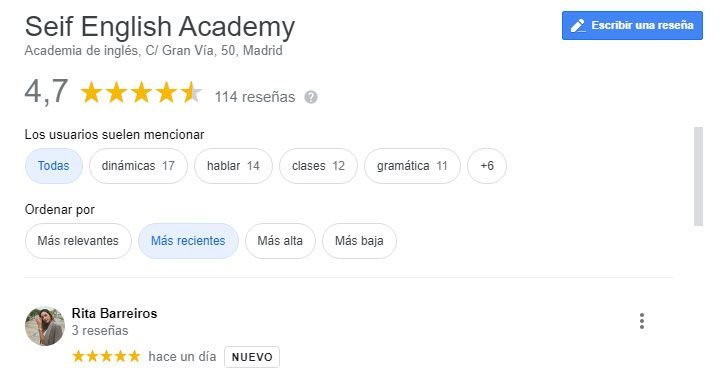 la mejor academia de inglés